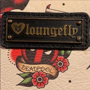 Loungefly RARE Deadpool tattoo Marvel wallet